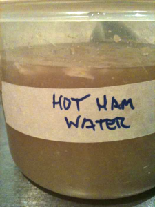 hot ham water