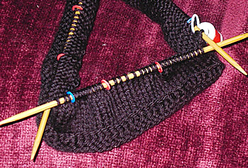 black hat on 3 needles