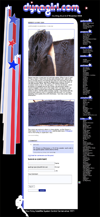 Dynagirl.com, election 2004 edition