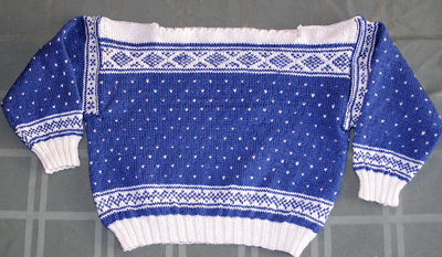Setesdal, a childrens sweater in a Norwegian style from Dale of Norway