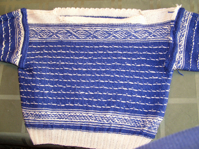 inside of Setesdal sweater