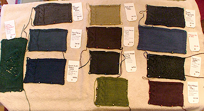 knitted swatches