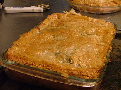 spankopita, Greek spinach phyllo pie