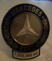 mercedes million mile plaque