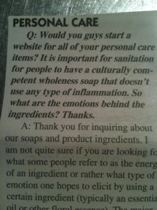 strange letter in the co-op newsletter